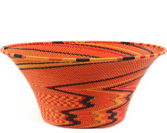 African Basket - Zulu Wire - Large Flared Bowl #62645