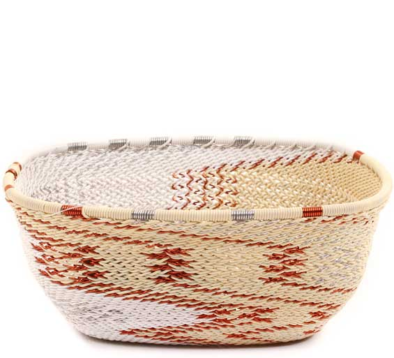 African Basket - Zulu Wire - Square Bowl #67735