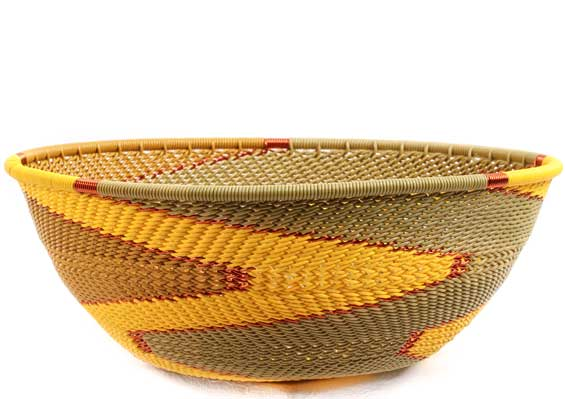 African Basket - Zulu Wire - Medium Bowl #69926