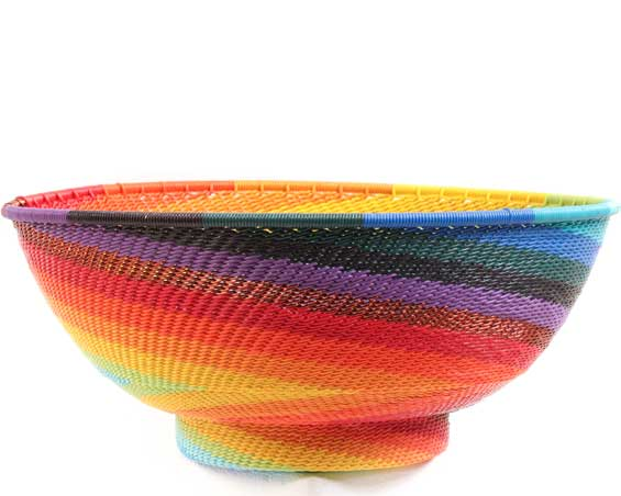 African Basket - Zulu Wire - Bowl with Base #69939