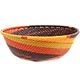 African Basket - Zulu Wire - Small Wide Bowl #71020