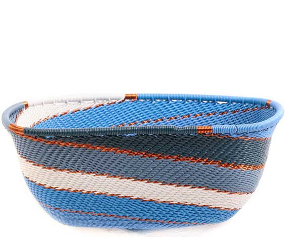 African Basket - Zulu Wire - Square Bowl #71082