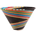 African Basket - Zulu Wire - Medium Deep Funnel Bowl #71084