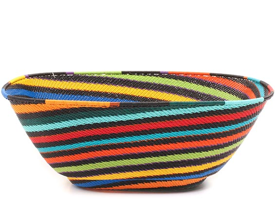 African Basket - Zulu Wire - Extra Large Square Bowl #73086