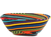 African Basket - Zulu Wire - Extra Large Square Bowl #73087