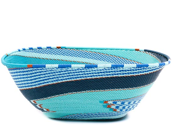 African Basket - Zulu Wire - Extra Large Square Bowl #73088