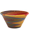 African Basket - Zulu Wire - Small Funnel Bowl #73112