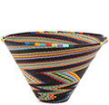 African Basket - Zulu Wire - Medium Deep Funnel Bowl #73113