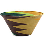 African Basket - Zulu Wire - Extra Large Funnel Bowl #73114