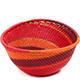 African Basket - Zulu Wire - Small Triangular Bowl #73115