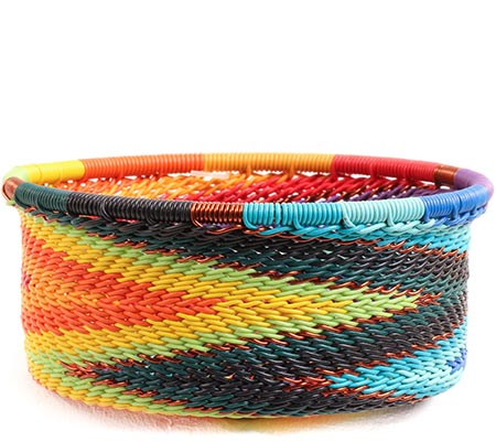 African Basket - Zulu Wire - Small Bowl with Straight Sides #73880
