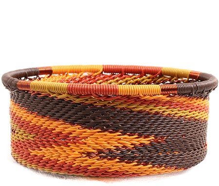 African Basket - Zulu Wire - Small Bowl with Straight Sides #73915