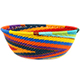 African Basket - Zulu Wire - Small Wide Bowl #74157