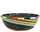 African Basket - Zulu Wire - Small Wide Bowl #74173