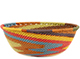 African Basket - Zulu Wire - Small Wide Bowl #74175