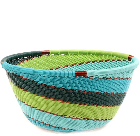 African Basket - Zulu Wire - Small Bowl #74237