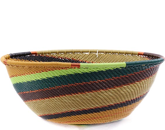 African Basket - Zulu Wire - Medium Bowl #74334
