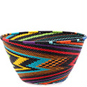African Basket - Zulu Wire - Deep Bowl #74705