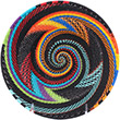 African Basket - Zulu Wire - Shallow Bowl #75482