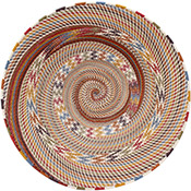 African Basket - Zulu Wire - Shallow Bowl #75575