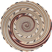 African Basket - Zulu Wire - Shallow Bowl #75576