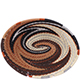 African Basket - Zulu Wire - Small Shallow Oval #75631