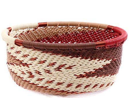 African Basket - Zulu Wire - Small Bowl with Straight Sides #75639