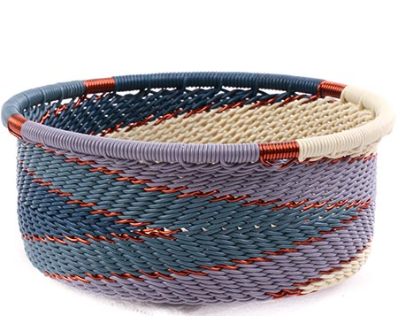 African Basket - Zulu Wire - Small Bowl with Straight Sides #75641
