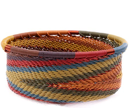 African Basket - Zulu Wire - Small Bowl with Straight Sides #75650