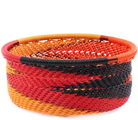 African Basket - Zulu Wire - Small Bowl with Straight Sides #75651