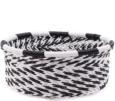 African Basket - Zulu Wire - Small Bowl with Straight Sides #75659