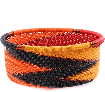 African Basket - Zulu Wire - Small Bowl with Straight Sides #75662