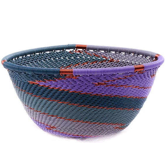 African Basket - Zulu Wire - Small Bowl #75673