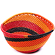 African Basket - Zulu Wire - Small Triangular Bowl #75697