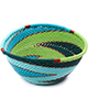 African Basket - Zulu Wire - Small Triangular Bowl #75699