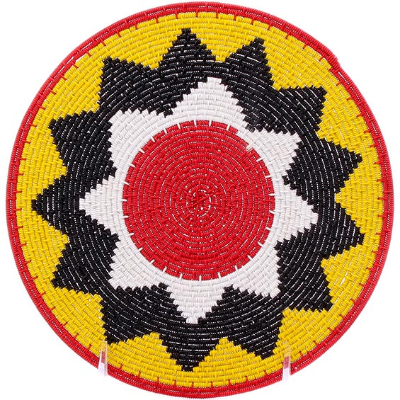 African Basket - Zulu Wire - Flat Coil Weave Plate -  8 Inches Across - #76357