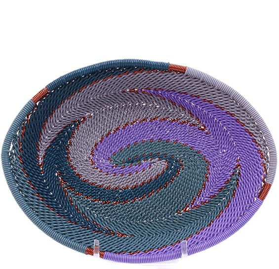 African Basket - Zulu Wire - Small Shallow Oval #76655