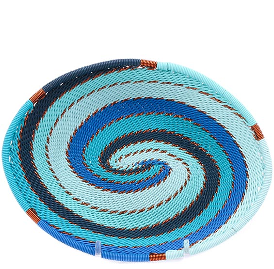 African Basket - Zulu Wire - Small Shallow Oval #76656