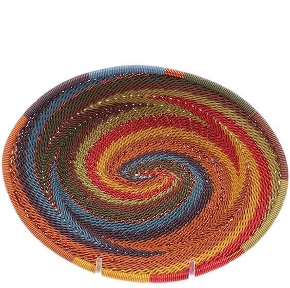 African Basket - Zulu Wire - Small Shallow Oval #76657