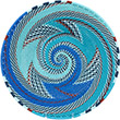 African Basket - Zulu Wire - Shallow Bowl #76672