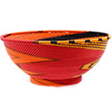 African Basket - Zulu Wire - Bowl with Base #76681