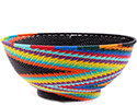 African Basket - Zulu Wire - Bowl with Base #76683
