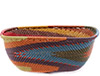 African Basket - Zulu Wire - Square Bowl #76686