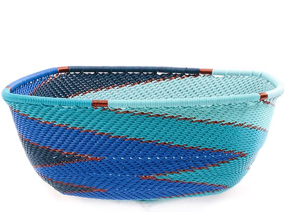 African Basket - Zulu Wire - Square Bowl #76687