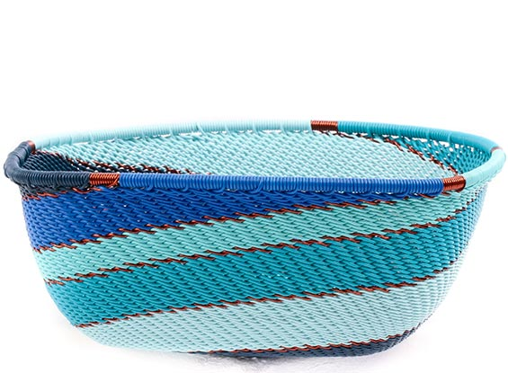 African Basket - Zulu Wire - Square Bowl #76693