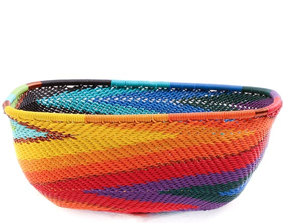 African Basket - Zulu Wire - Square Bowl #76695