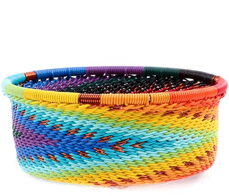 African Basket - Zulu Wire - Small Bowl with Straight Sides #77187