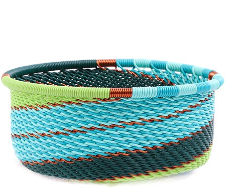 African Basket - Zulu Wire - Small Bowl with Straight Sides #77212