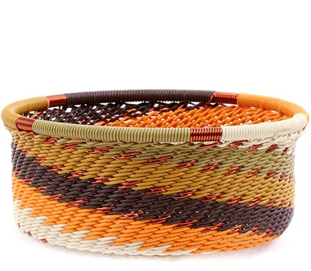 African Basket - Zulu Wire - Small Bowl with Straight Sides #77218