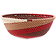 African Basket - Zulu Wire - Small Wide Bowl #77227